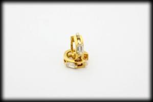 18 karaat gouden oorringen met 2 emerald geslepen diamanten totaal 0.92 karaat